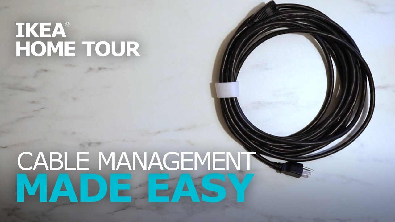 Cable Management Made Easy Ikea Home Tour Youtube Wiring