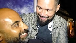 TONY BELLEW AND TRAINER REACT TO CONFRONTATION WITH DEONTAY WILDER; LAUGH AND TALK FUTURE PLANS