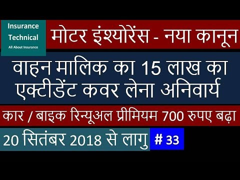 New Regulation of Motor Insurance - 15 Lakhs Accident Cover Must for Owner Driver