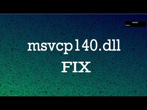 How To Fix MSVCP140.dll Missing In Windows 10/8.1/8/7 (All PC Games & Software Fix)