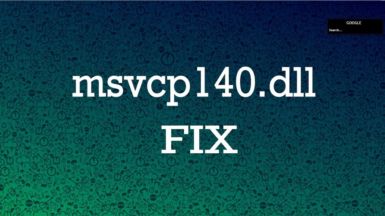 cannot find msvcp140 dll please re-install this application