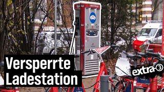 Realer Irrsinn: Elektroauto-Ladesäule hinter Bikesharing-Station
