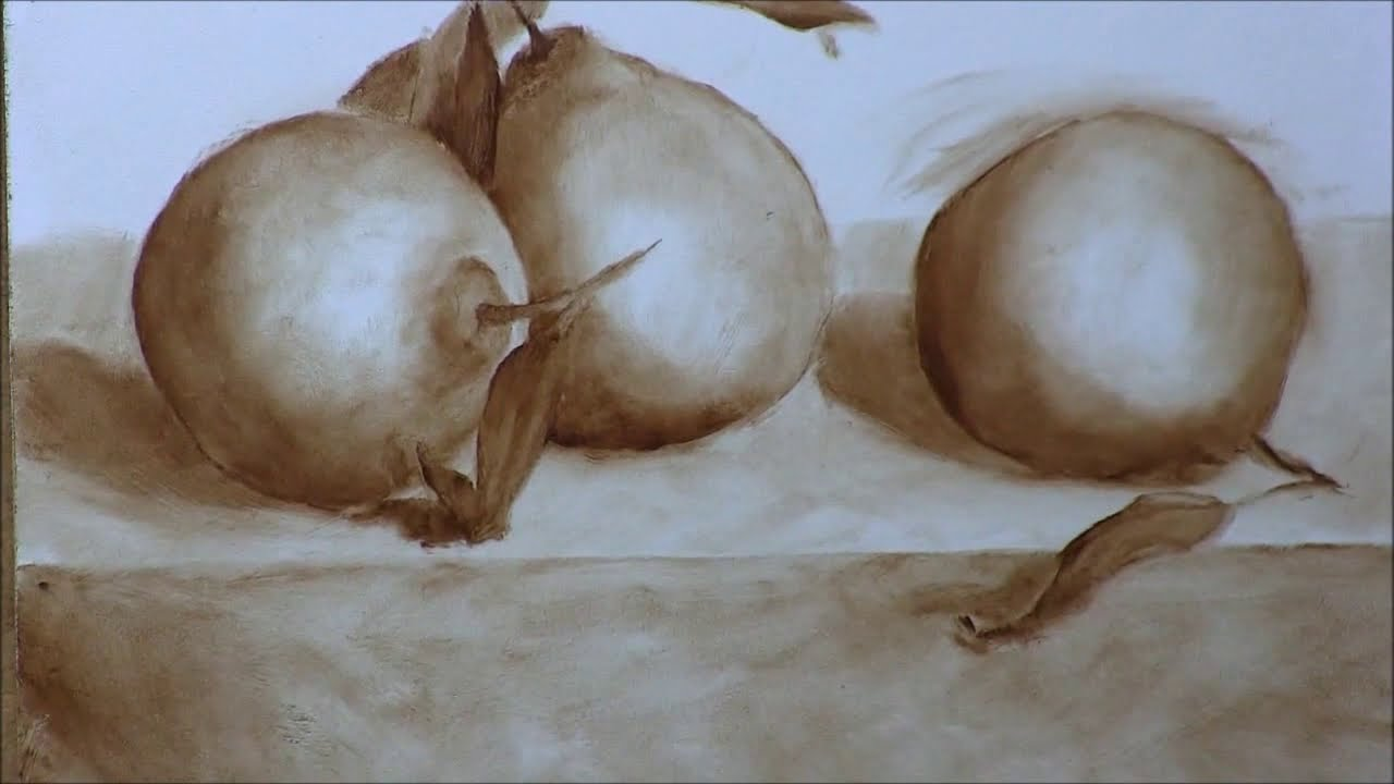 Oranges1- Sketch & Underpainting