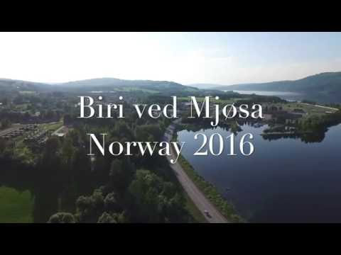 #01 Town Biri and lake Mjøsa, Norway
