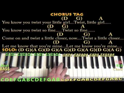 Twist And Shout The Beatles Piano Chord Chart With Chordslyrics