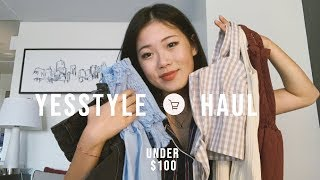 summer YESSTYLE try-on haul | cute summer clothes under $100