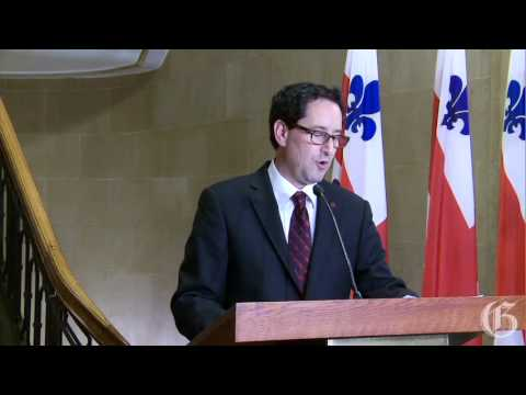 Montreal mayor Michael Applebaum announces his resignation