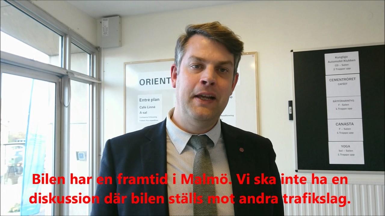 Andreas Schönström om trafikplaneringen i Malmö. - YouTube