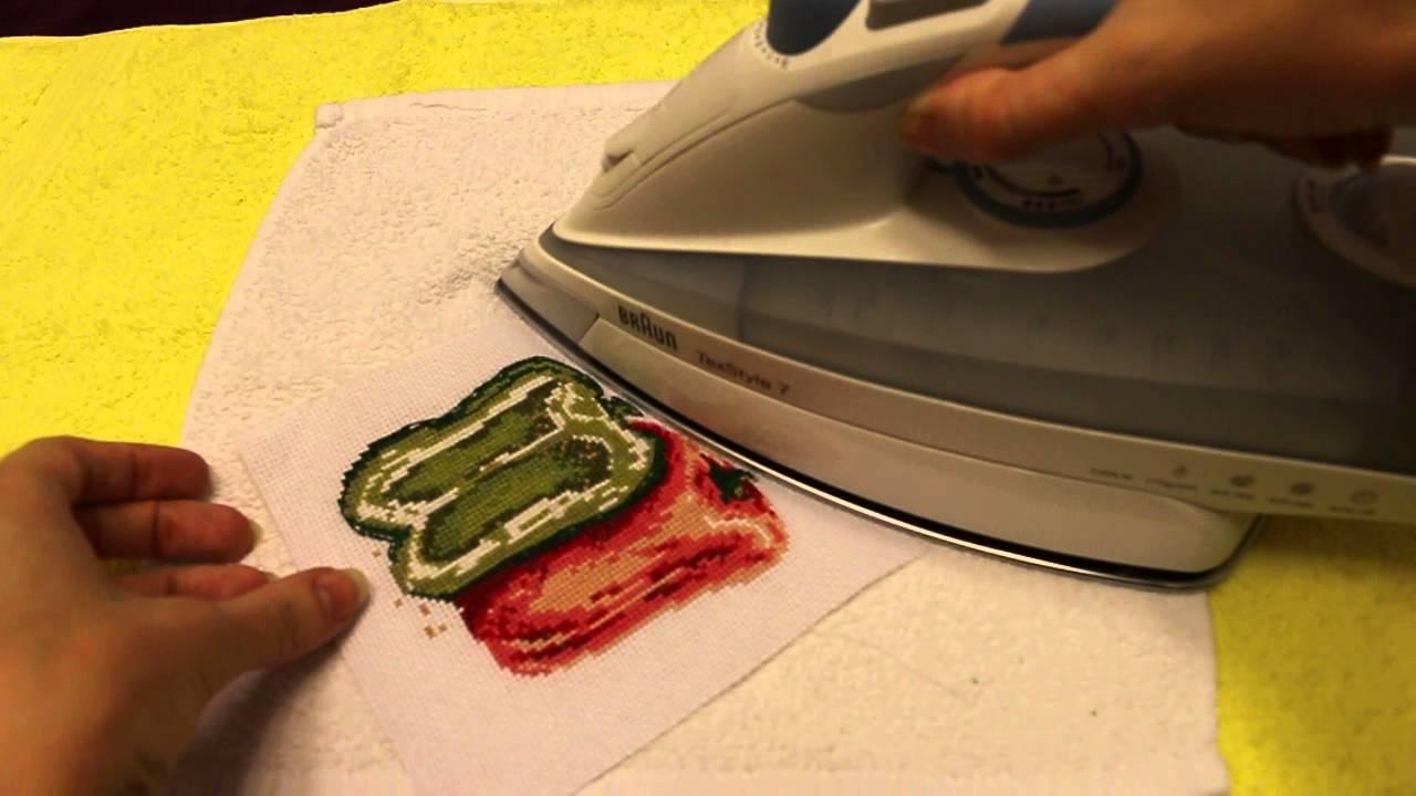 Как гладить вышивку бисером