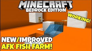 Minecraft Bedrock: WORKING AFK Fish Farm! With Auto clicker! All Bedrock Platforms!