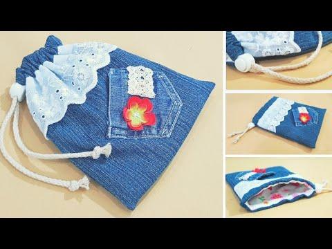 f5866cfff Diy gift bag | Mother's day | Simple drawstring bag sewing tutorial ...