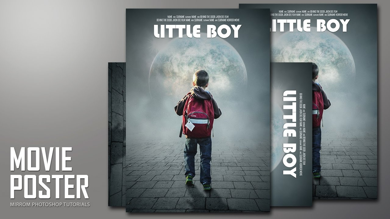 Poster design game - Creating An Little Boy Movie Poster Design In Photoshop