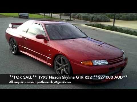 for sale 1993 nissan skyline gtr bn r32 27 000 aud youtube. Black Bedroom Furniture Sets. Home Design Ideas