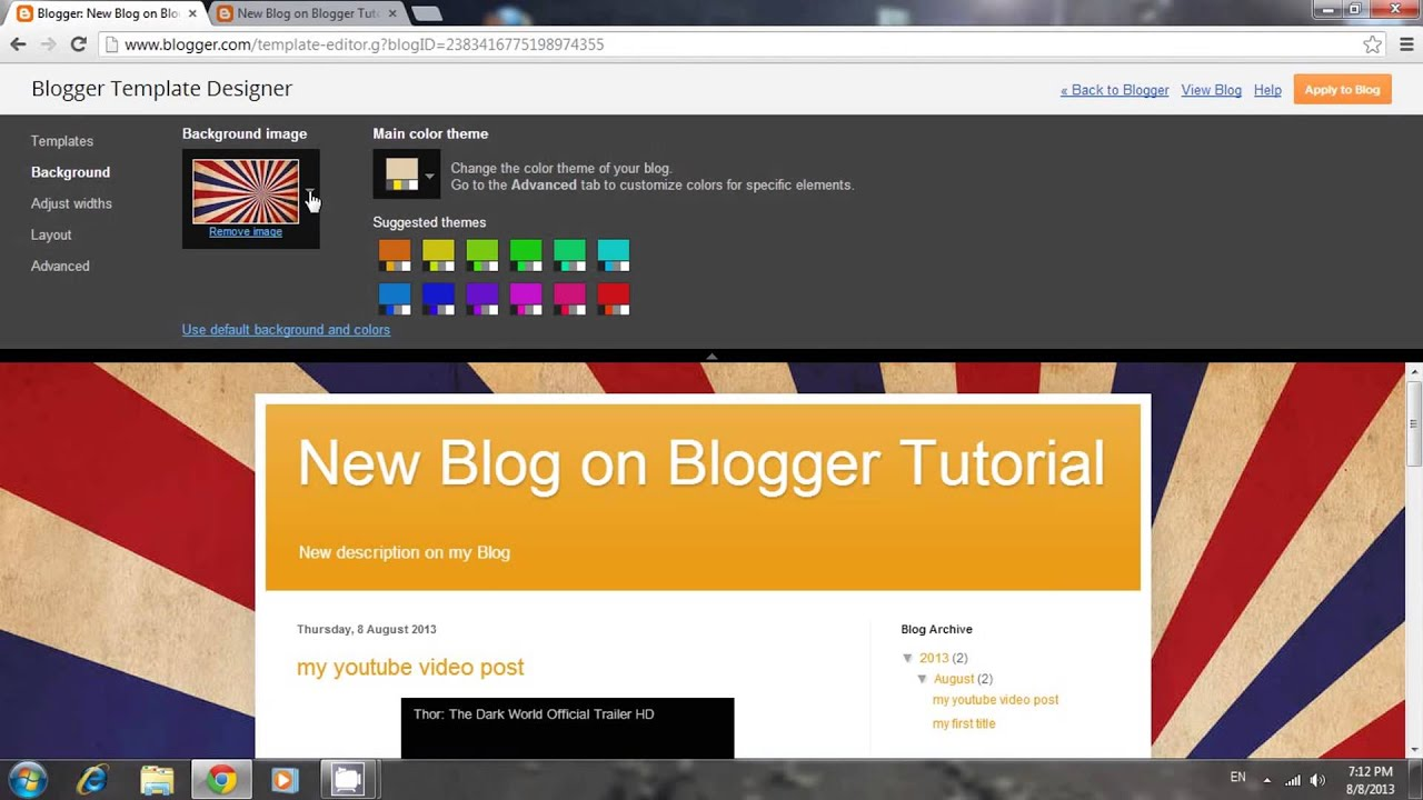 How to Add a Blog Background