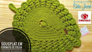 Como Fazer um Sousplat de Crochê em Formato de Folha