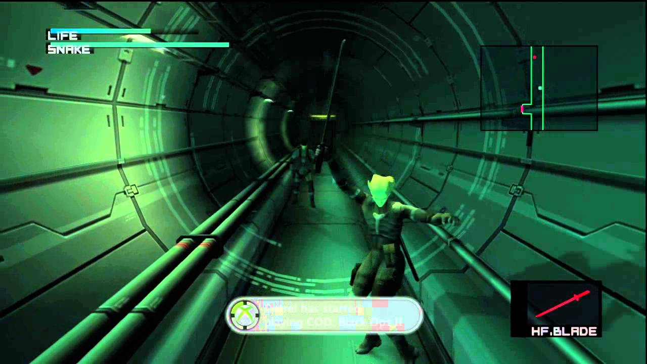 Metal Gear Solid 2 Sons Of Liberty Hd Collection Raiden Gets A Sword Inside Arsenal Gear Youtube