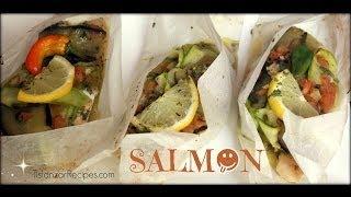 How To Cook Salmon En Papillote / Saumon En Papillote