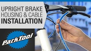 Brake Housing & Cable Installation - Upright Bars
