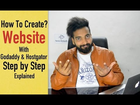 How to Create a Website with Godaddy and Hostgator in Hindi | Step by Step Explained