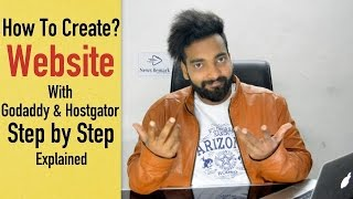 كيفية إنشاء موقع على شبكة الانترنت مع Godaddy و محفوطة في الهندية | خطوة خطوة شرح