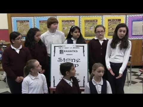 """""""Stone Soup & Pigeon Plays PSA"""" (St. Mary - St. Michael Elementary School Drama Club, Derby, CT)"""