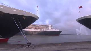 Cruise Ships Play Happy Birthday To Queen Mary 2