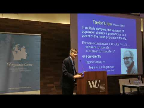 WIC2016: Joel Cohen - The use of Taylor's law to evaluate alternative multi...