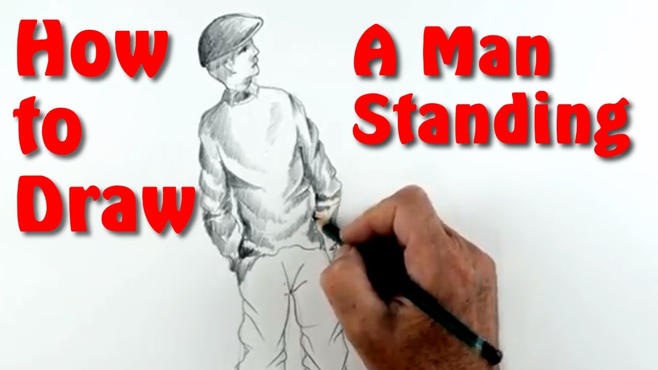 How To Draw A Person Standing Narrated Youtube