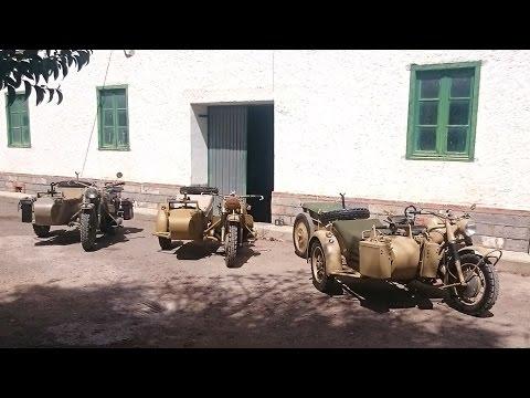 3X BMW R75 WH Moto sidecar wehrmacht Sahara África WWII en la guerra civil y segunda guerra mundial