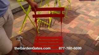 Fermob Bistro Chair- French Folding Metal Bistro Chair For Sale At Thegardengates.com