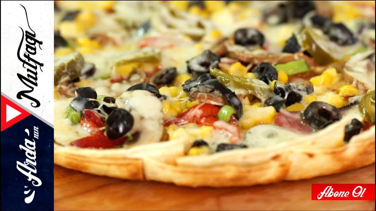 Pastırmalı kolay pizza tarifi