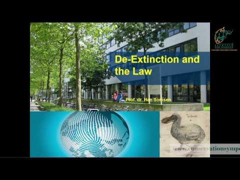 2016D2S1L4_Han_Samsen De-extinction : current and future legal issues
