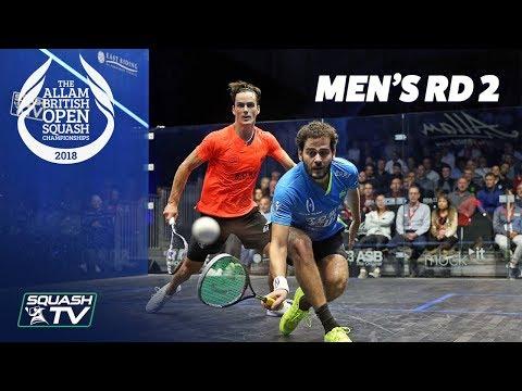 Squash: Allam British Open 2018 - Men's Rd 2 Roundup [Part 1]