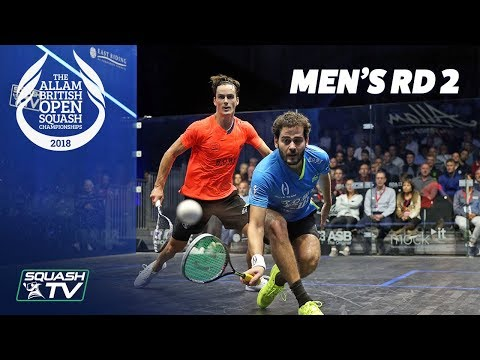 Squash: Allam British Open 2018 - Men\'s Rd 2 Roundup [Part 1]