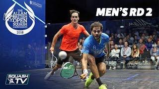 Squash: Allam British Open 2018 - Men\'s Rd 2 Roundup [Part 1]
