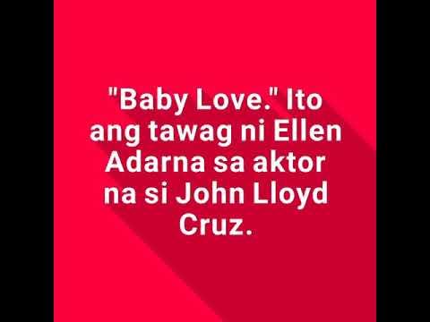 "Ellen Adarna, tinawag na ""Baby Love"" si John Lloyd Cruz"