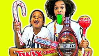 Candy Challenge Compilation! Giant Pizza and Gummy Food - Pretend Play Shiloh and Shasha Onyx Kids