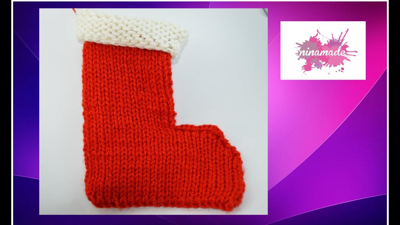 Diy comment tricoter la botte du p re no l avec 2 - Cote 2 2 tricot ...