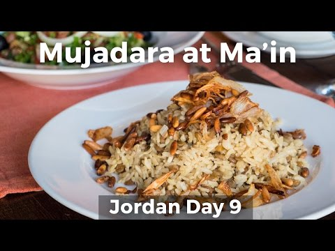 Mujadara - Jordanian Comfort Food at Ma'in Hot Springs