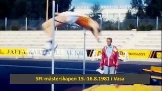 kaitafilmi 32. | SFI-mästerskapen 1981 i Vasa | höjdhopp och häcklöpning