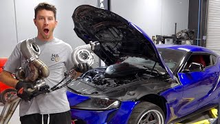 Making a 700HP Toyota Supra With a Big Single Turbo!