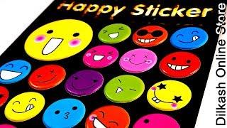 Stickers Online Smile Face -Emoji Happy Sticker - ACC-013 - Dilkash.pk Art & Craft Online Store