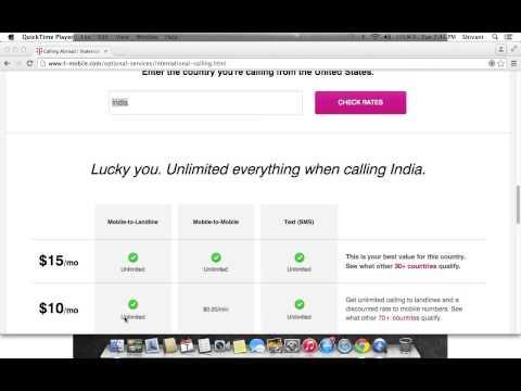 T-Mobile International Calling Plan