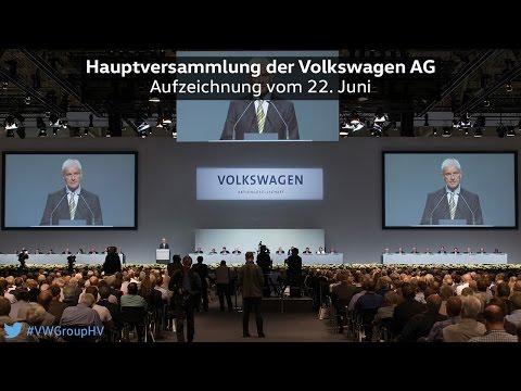 Hauptversammlung der Volkswagen AG 2016 #VWGroupHV Aufzeichnung vom 22. Juni 2016