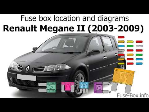 [DIAGRAM_5NL]  Fuse box location and diagrams: Renault Megane II (2003-2009) - YouTube | Renault Megane Fuse Box Wet |  | YouTube