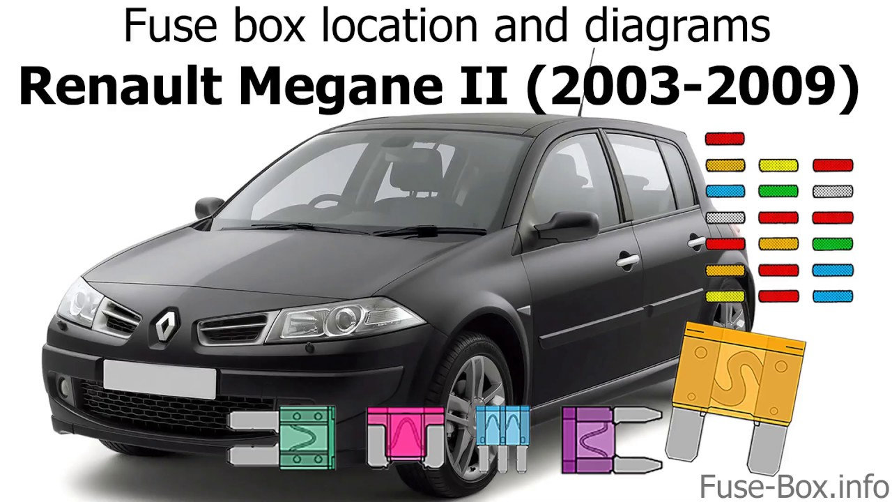 Fuse box location and diagrams: Renault Megane II (2003