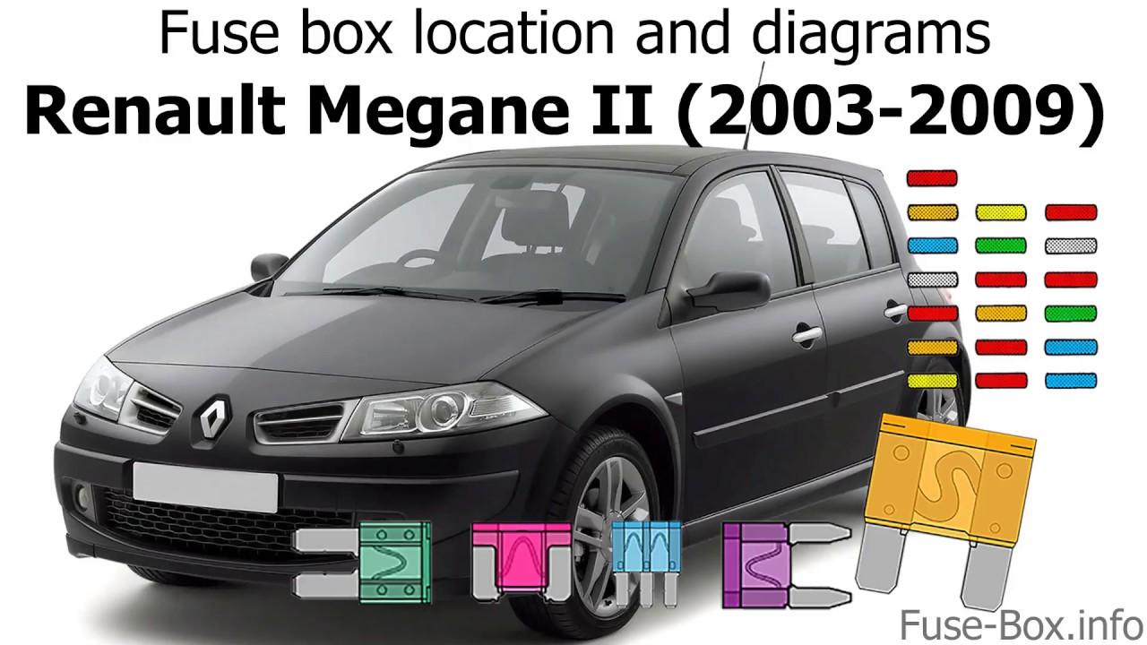Fuse box location and diagrams: Renault Megane II (2003