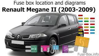 [SCHEMATICS_4JK]  Fuse box location and diagrams: Renault Megane II (2003-2009) - YouTube | Renault Megane Fuse Box In Engine Bay |  | YouTube
