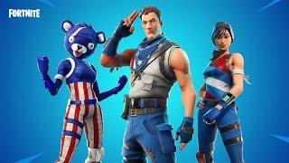 Fortnite new skins. EARLY - fireworks team Leader,star spangled trooper,sparkler emote