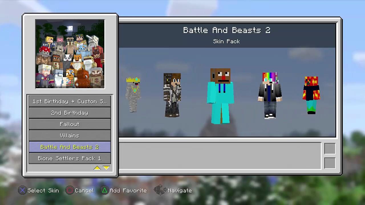 Minecraft PS11 : Custom Skins Backup Download! (Read Desc.)